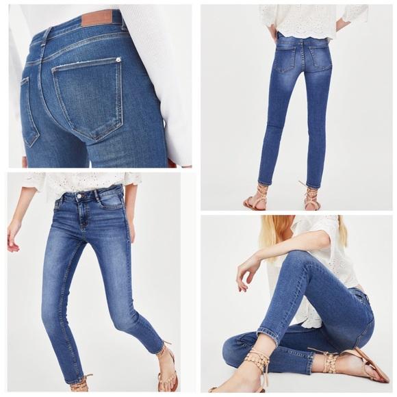 82bc84325cadb Zara TRF Premium Quality Low Skinny Blue Jeans